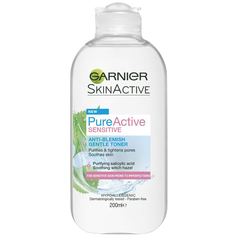 Garnier Pure Active Sensitive Gentle Toner 200ml
