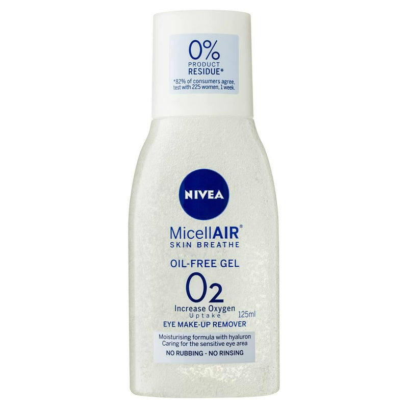 Nivea Eye Make-Up Remover Micellair Oil-Free Gel Skin Breathe 125ml