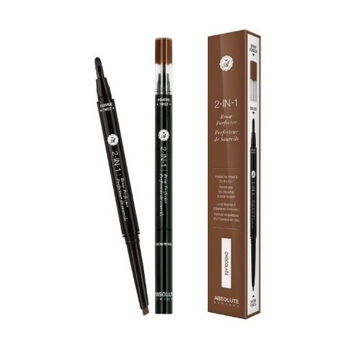 Absolute 2 In 1 Brow Perfecter | Chocolate