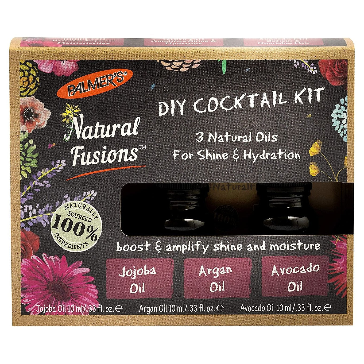 Palmer's Natural Fusions Diy Cocktail Kit 3 Natural Oils For Shine & Hydration Pk3 X 10ml