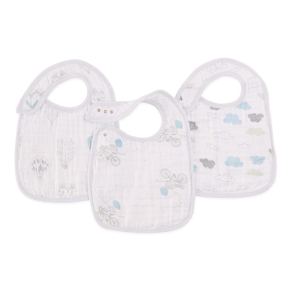 aden + anais Cotton Muslin Snap Bib - Night Sky Reverie (3-Pack)