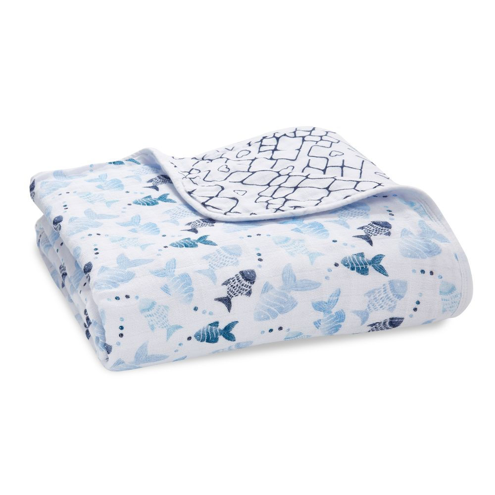 aden + anais Cotton Muslin Dream Blanket - Gone Fishing