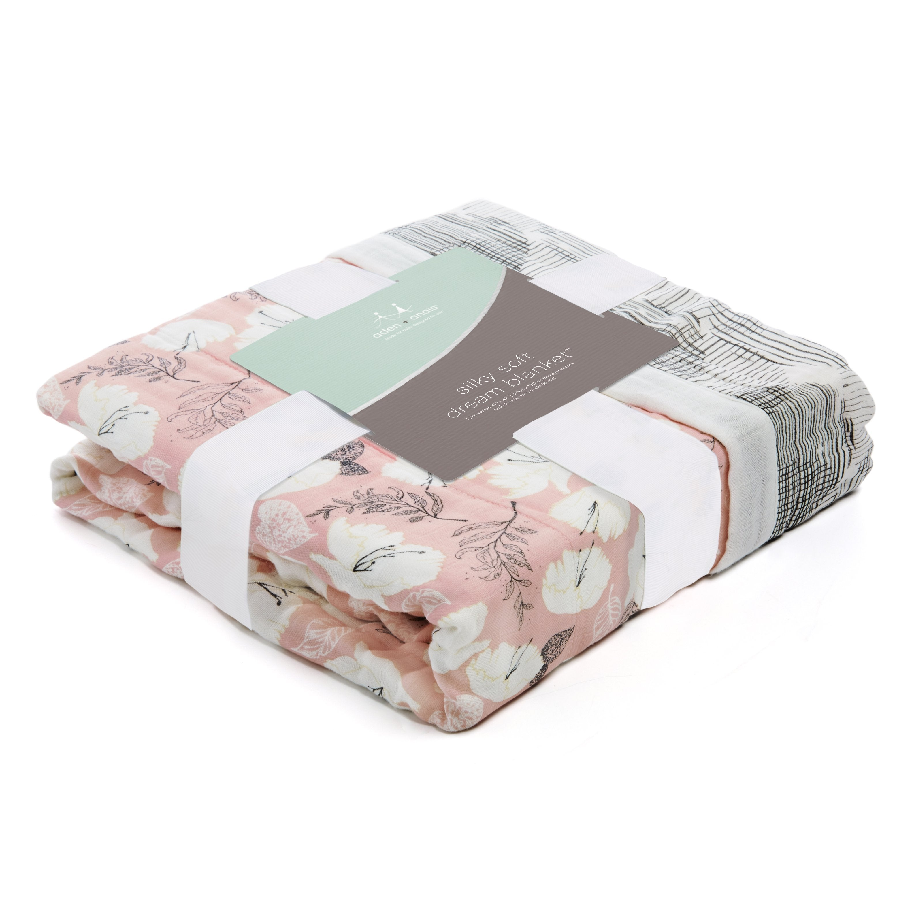aden + anais Silky Soft Dream Blanket - Pretty Petals-Soft Petals