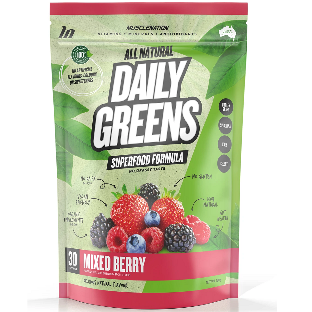 Muscle Nation 100% Natural Daily Greens 150g - Mixed Berry