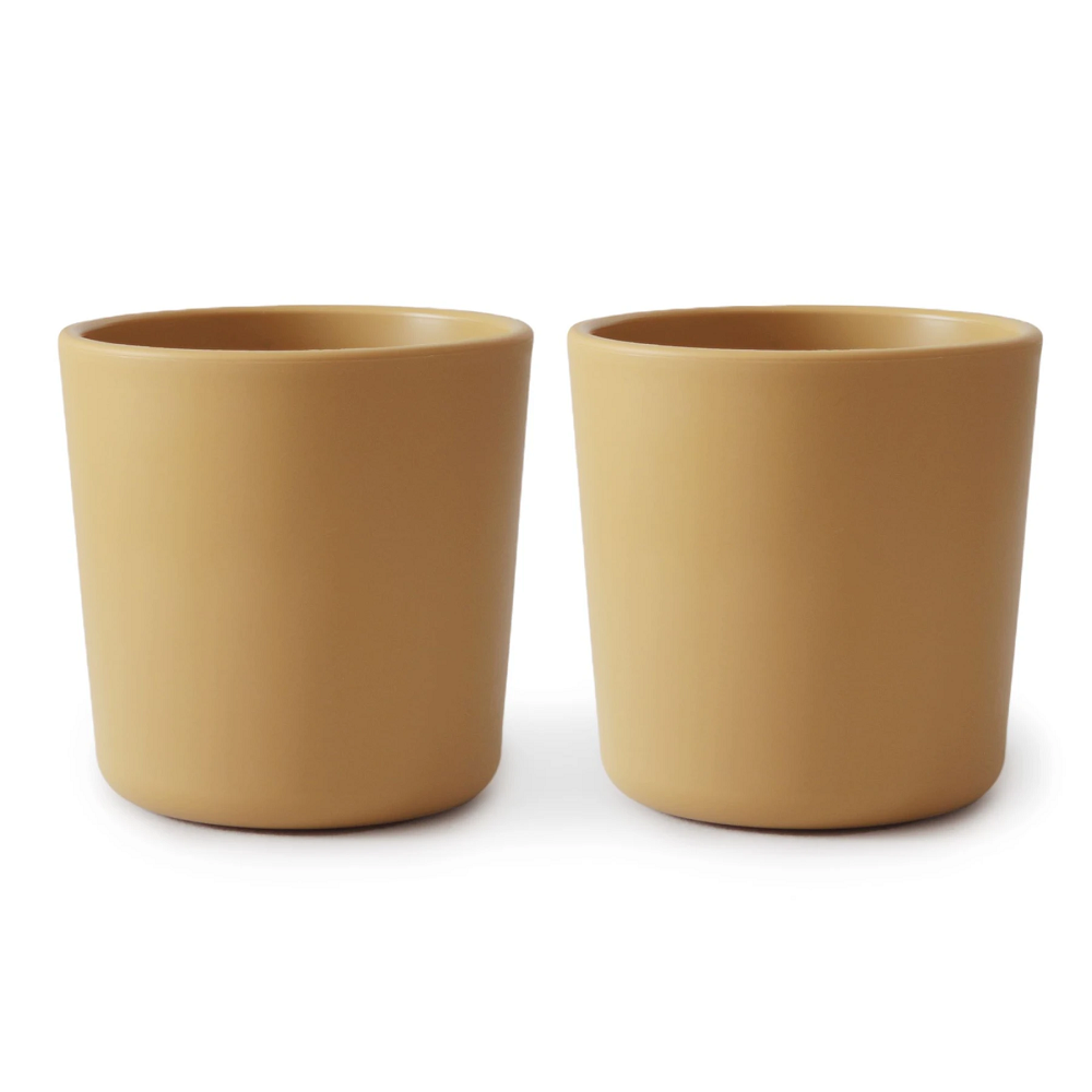 Mushie Dinnerware Cup (Set of 2) - Mustard