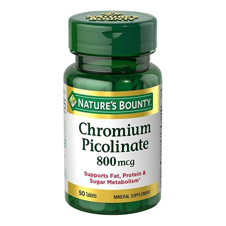 Nature's Bounty Chromium Picolinate 800mcg - 50 Tablets