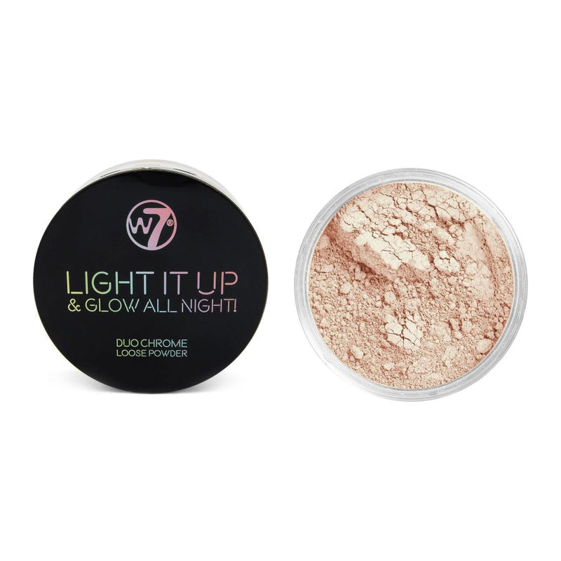 W7 Light It Up & Glow All Night! Duo Chrome Loose Powder - No Vacancy