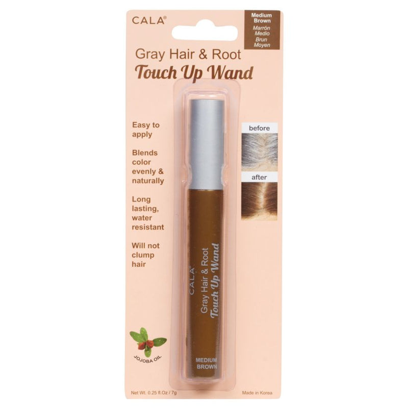 Cala Gray Hair & Root Touch Up Wand - Medium Brown