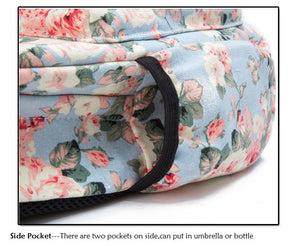 Women's Canvas Floral Print Backpack