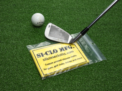 Custom Printed Personalized Silicone Golf Club Cleaning Polishing Cloth Premium