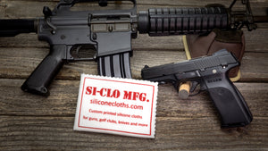 Silicone Gun Cloth Cleaning Polishing Custom Printed Personalized Colt AR-15 Ruger SR40 Si-Clo Mfg