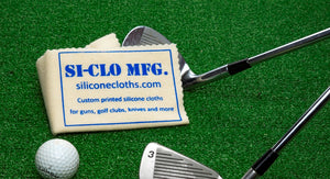 Silicone Cloth Golf Club Custom Printed Personalized Cleaning Polishing Golf Ball
