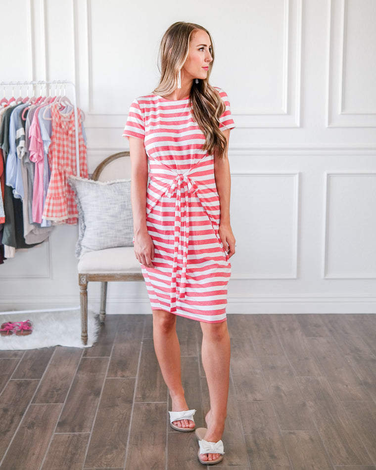 The Candy Apple Striped Dress