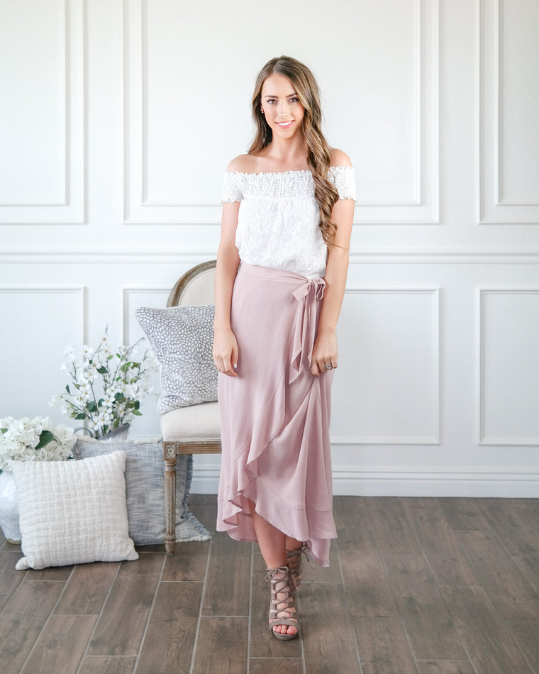 The Pinky Promise Wrap Skirt
