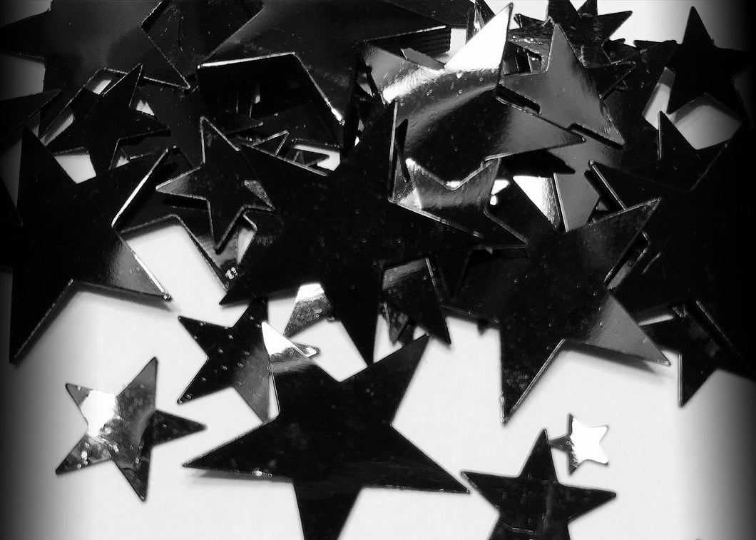 Black Star Metallic Pokey Confetti - Dark Humor Confetti Nihilist Cards