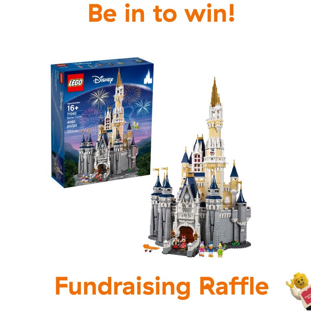 Raffle ticket for LEGO set 71040 Disney Castle