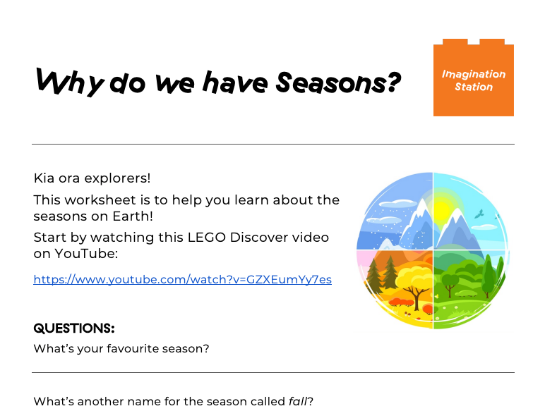 Why do we have Seasons? at Imagination Station