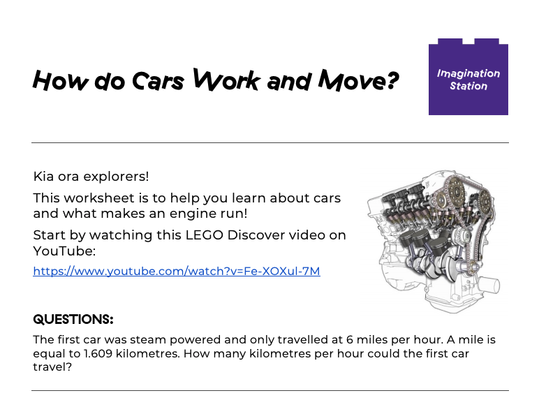 How do Cars Work and Move? at Imagination Station