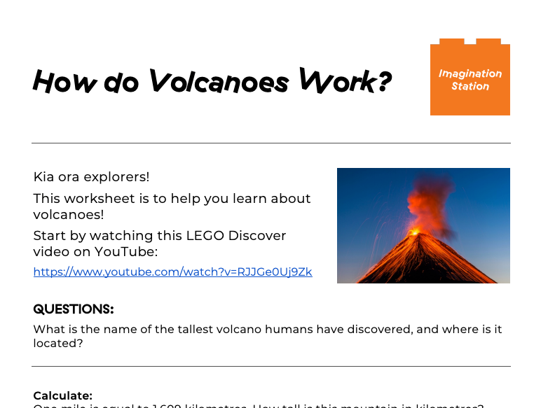 How do Volcanoes Work? at Imagination Station