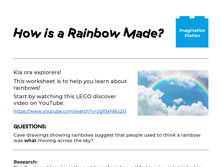 How is a Rainbow Made? at Imagination Station