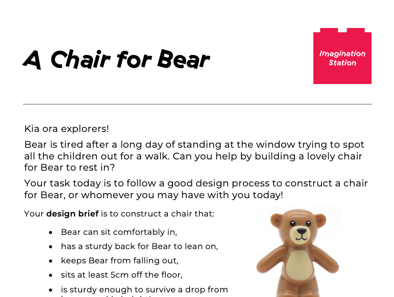A Chair for Bear at Imagination Station