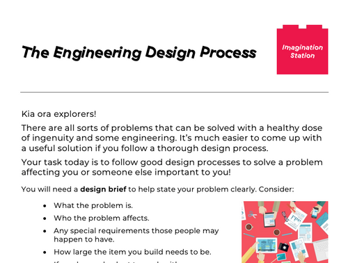 The Engineering Design Process at Imagination Station