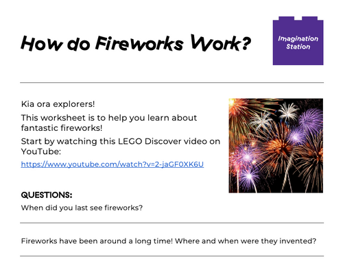 How do Fireworks Work? at Imagination Station