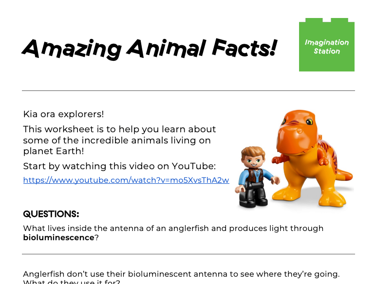 Amazing Animal Facts! (Junior version) at Imagination Station