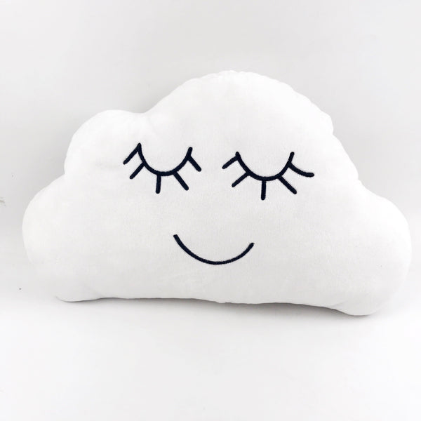 White Embroidered Cloud Pillow