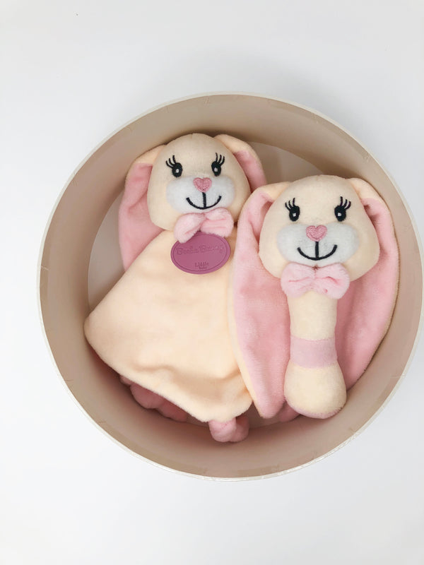 Beeba Bunny rattle and comforter set