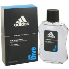 ADIDAS ICE DIVE Eau De Toilette Natural Spray for Men, 3.4 fl oz / 100 ml
