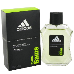 ADIDAS PURE GAME Eau De Toilette Natural Spray for Men, 3.4 fl oz / 100 ml
