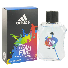 ADIDAS TEAM FIVE Special Edition Eau De Toilette Natural Spray for Men, 3.4 fl oz / 100 ml