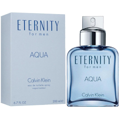 CALVIN CLAIN ETERNITY AQUA  Eau de Toilette Spray for Men  6.7 oz / 200 ml