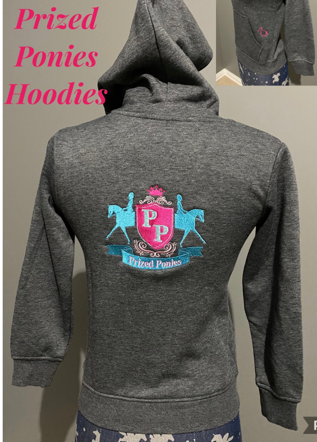 Prized ponies embroidered hoodies