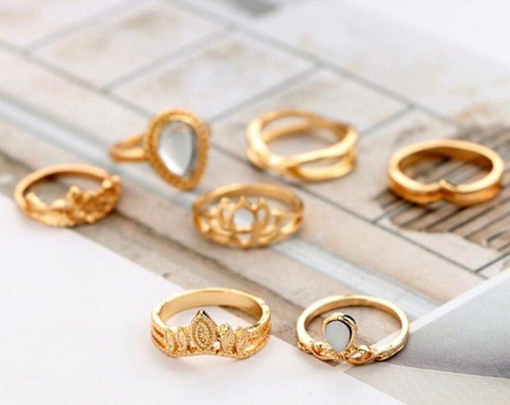 Kaleah 7 Piece Ring Set