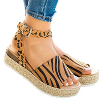 Paige Print Wedge Sandals