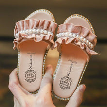 KIDS Summer New Girls Sandals Shoes Fashion Pearl Children Sandals For Girls Rivet Princess Slippers Shoes