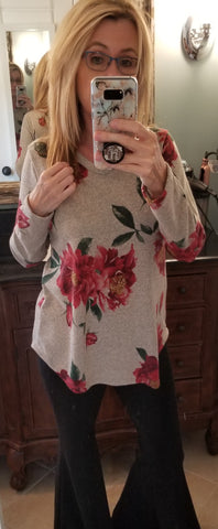 Gracie Gray Floral Tunic