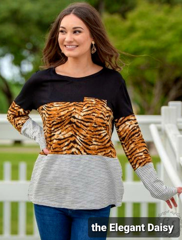Eye of the Tiger Long Sleeve Top