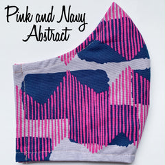 Pink and Navy Abstract