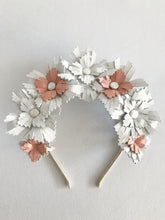 Lucy - White and Blush Pink Leather Crown