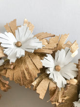 Lucy - Gold and White Leather Crown