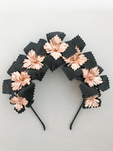 Lucy - Black and Rose Gold Leather Crown