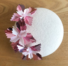 Starburst Mini - Winter White, Dusty Pink and White Mini Felt Button