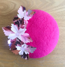Starburst Mini - Hot Pink, Dusty Pink and White Mini Felt Button