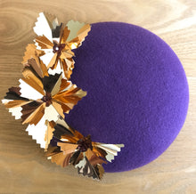 Starburst Large - Purple and Gold Large Felt Button