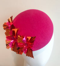 Starburst Large - Hot Pink and Orange Large Felt Button