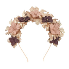 Lucy - Rose Gold, Blush and Burgundy Leather Crown