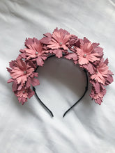 Lucy - Pink and Purple Leather Crown